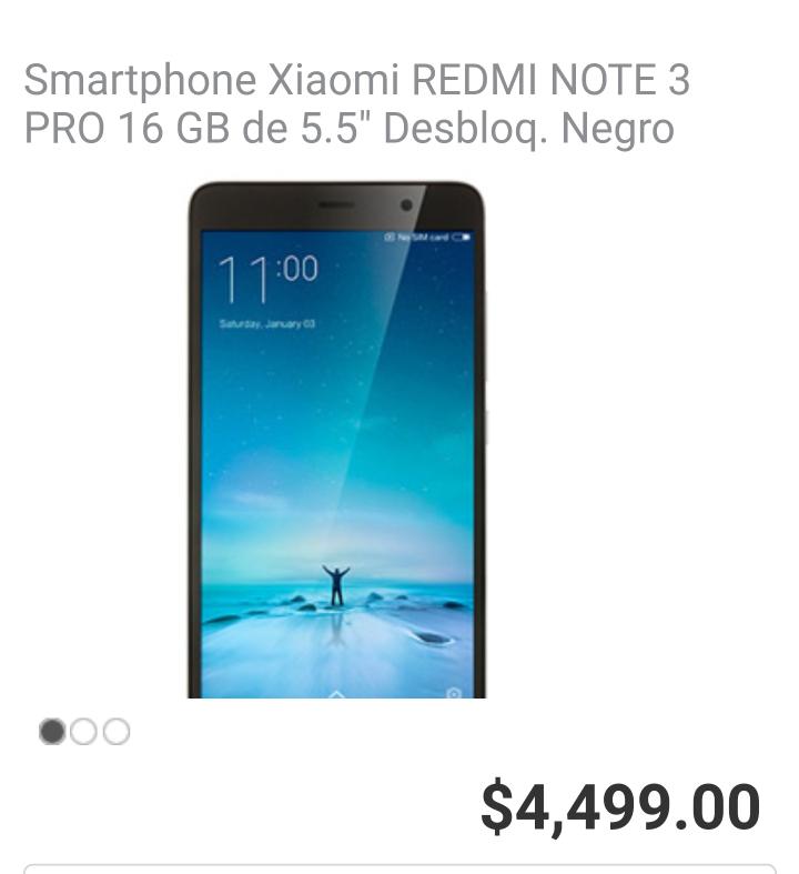 Soriana en linea: Xiaomi Redmi Note 3 Pro