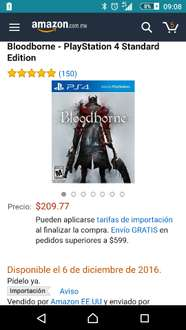 Amazon: Bloodborne para PS4 a $210