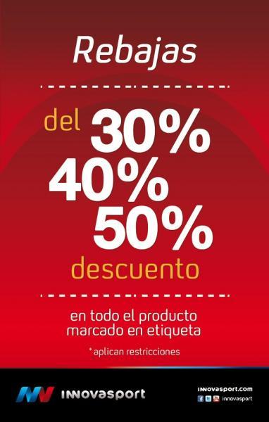 Innova Sport: rebajas de hasta 50% de descuento