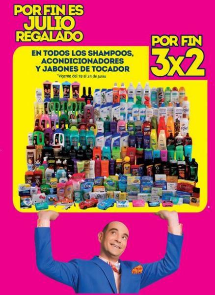 Ofertas de Julio Regalado en La Comer: 3x2 en shampoos, jabones y acondicionadores