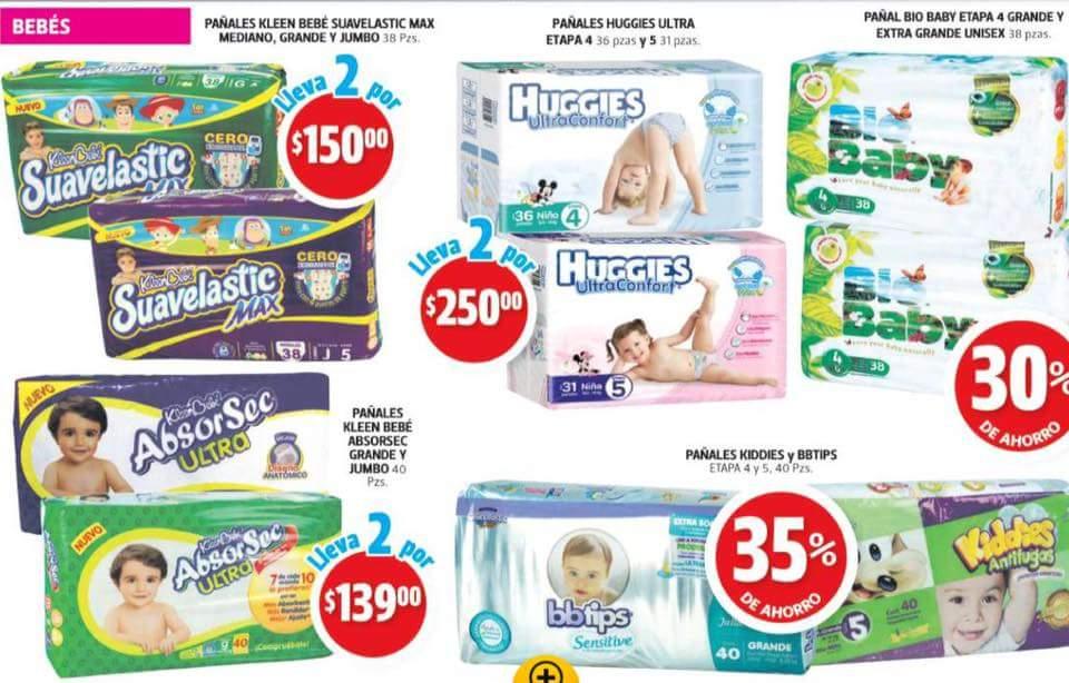 Farmacias Guadalajara: pañales suavelastic 38 piezas 2pak. x $150