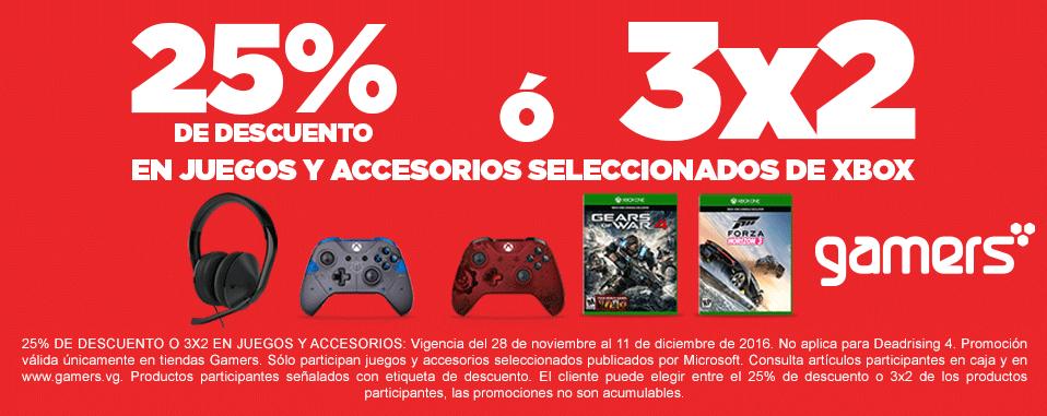 Gamers: 3×2 en juegos y accesorios de Xbox