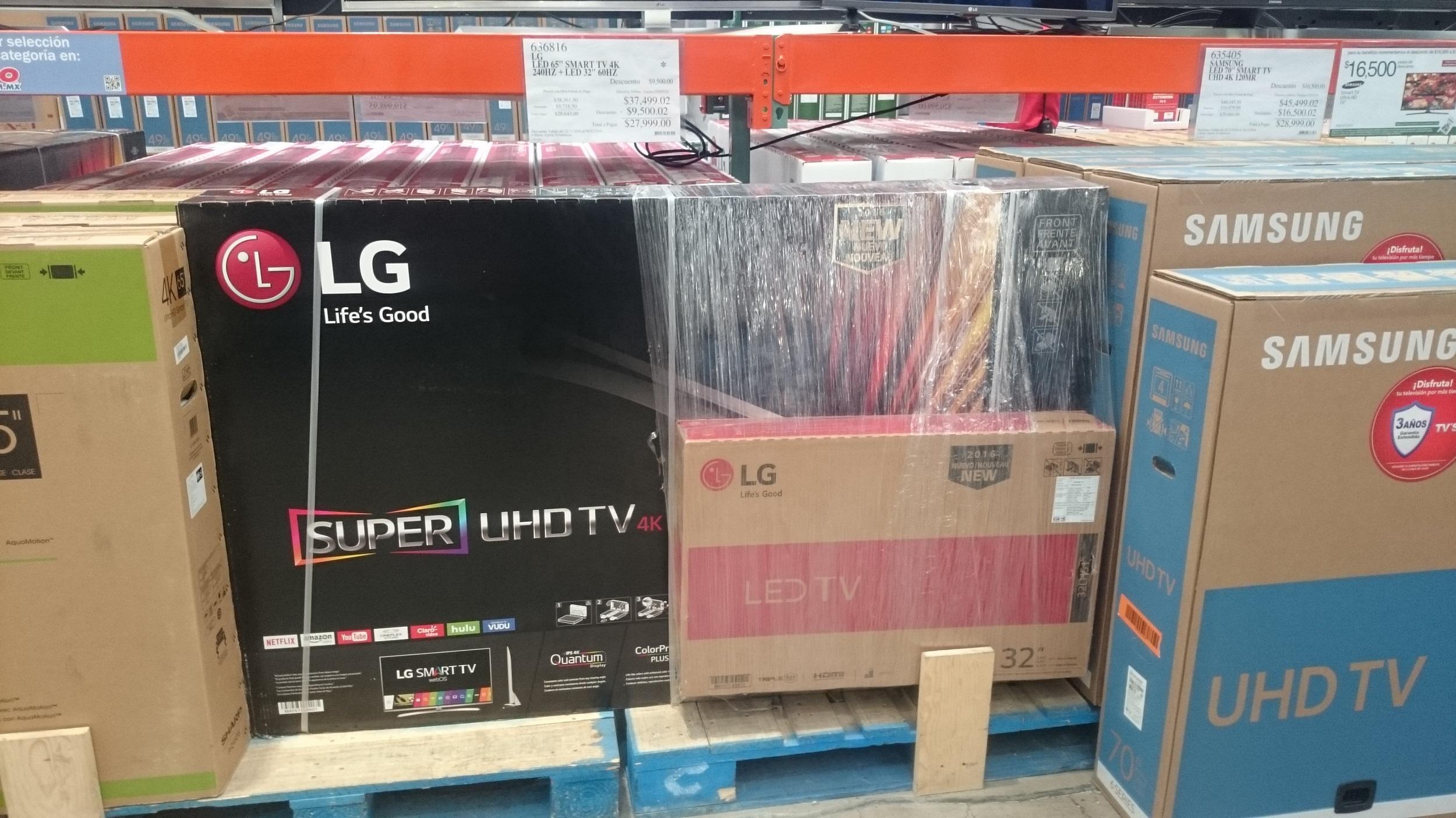 "Costco: Pantalla LG 65UH8500 + pantalla de 32"" de regalo"