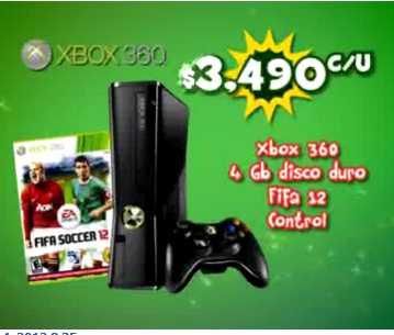 Consolas: Xbox 360 con FIFA 12 $3,490 y PS3 con Uncharted 3 $5,589