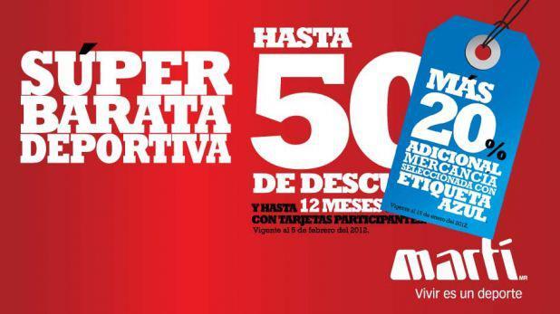 Martí: rebajas de temporada de hasta el 50% y 20% adicional en etiqueta azul