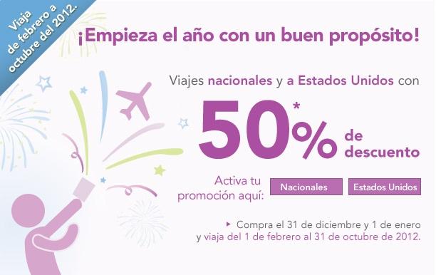 Volaris: 50% de descuento en viajes nacionales y a EUA