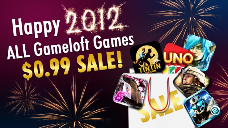 Todos los juegos de Gameloft para android a 99 centavos de dólar