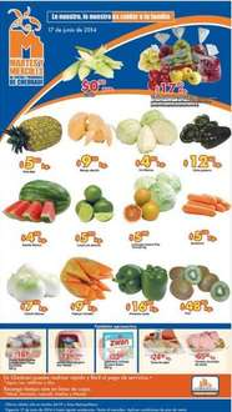 Ofertas de frutas y verduras en Chedraui junio 17 y 18