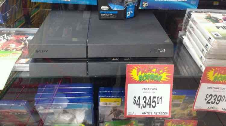 Bodega Aurrerá Mérida: consola PS4 500GB Fifa 16 a $4,345.01