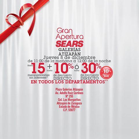 Apertura de SEARS Galerias Atizapan 8 de Diciembre