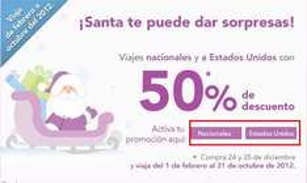 Volaris: 50% de descuento para viajar en el 2012