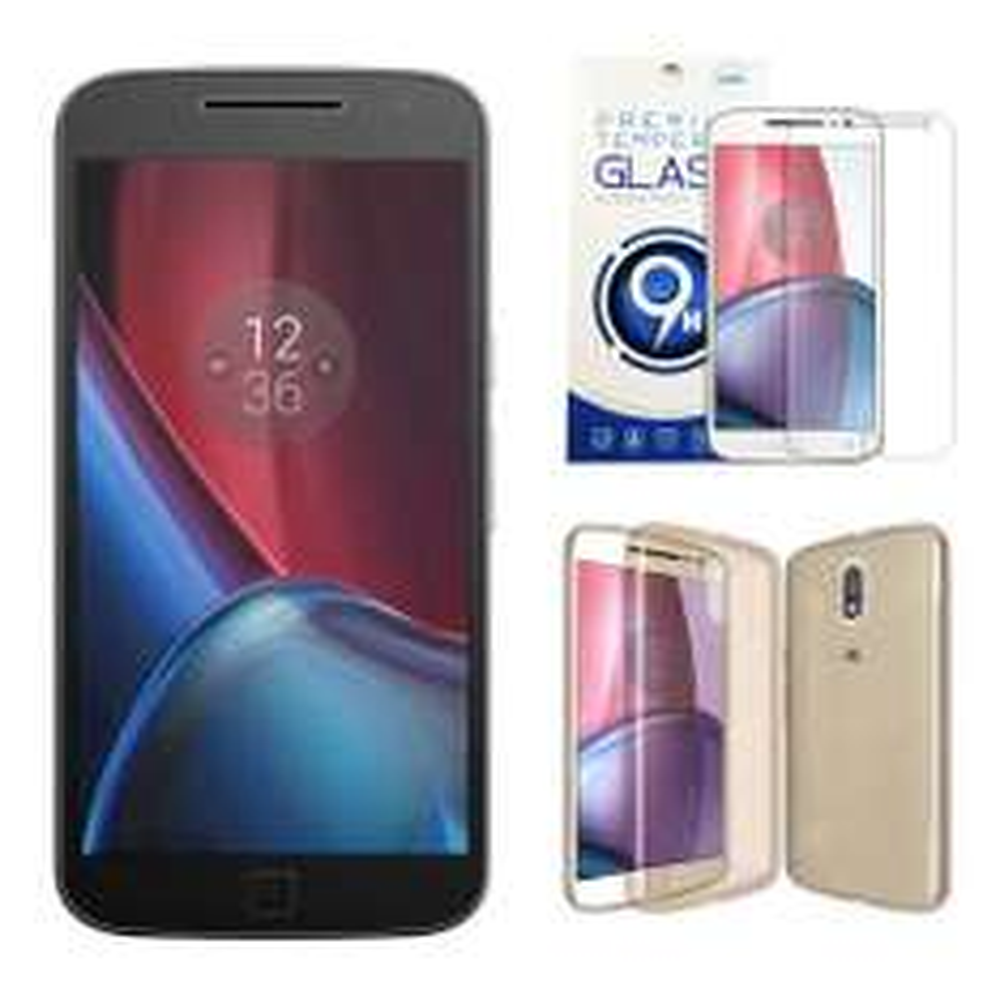 Waltmart: Smartphone Motorola Moto G4 Plus 32 GB Negro 4G LTE Desbloqueado más funda y mica