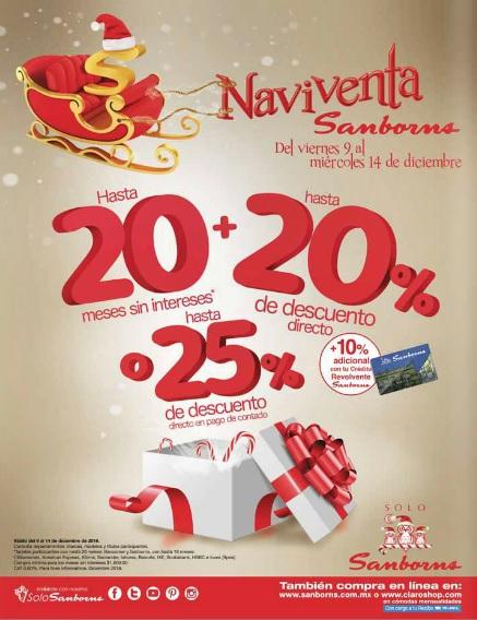 Sanborns: NaviVenta Sanborns del 9 al 14 de Diciembre