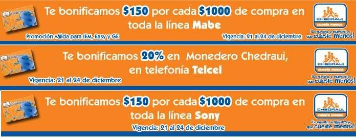 Chedraui: bonificación en Sony, Telcel, Mabe y más