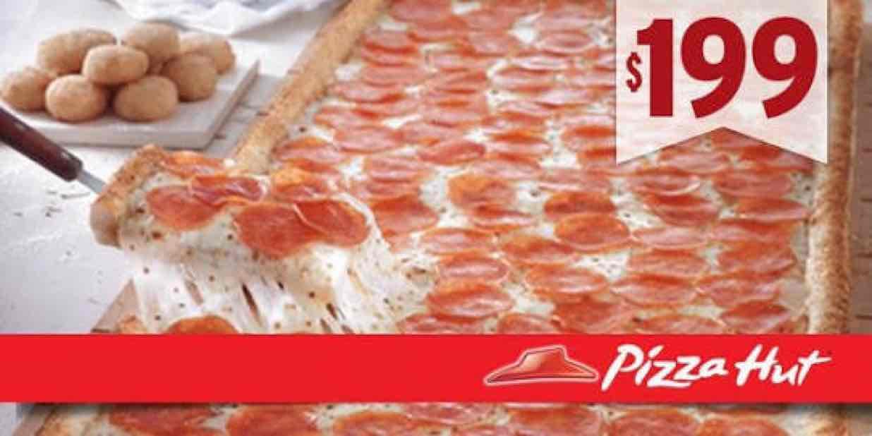 Pizza Hut: Big Hut de pepperoni a $199
