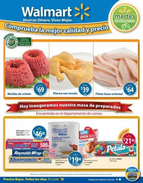 Martes de Frescura en Walmart diciembre 20: Molida de Sirloin a $69 Kg y más