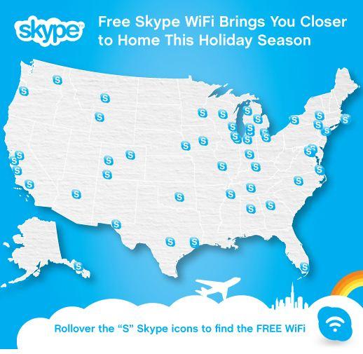 Skype WiFi Gratis en 50 aeropuertos de EUA