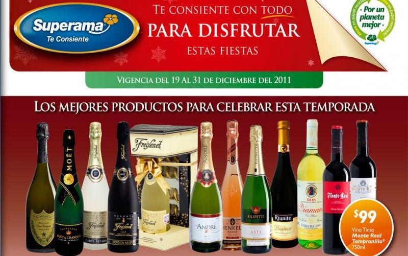 Folleto Superama diciembre 19: descuentos en vinos, carnes y más