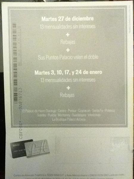Palacio de Hierro: 13 MSI, rebajas y puntos Palacio valen dobles el 27 de diciembre