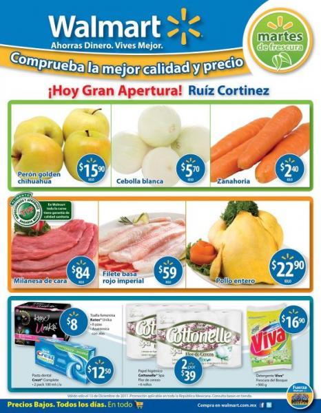 Martes de frescura Walmart diciembre 13: zabahoria $2.40, cebolla $5.70 y más