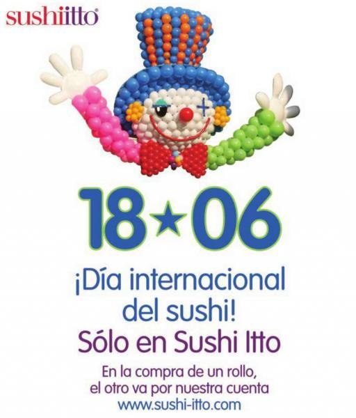 Sushiitto día internacional del sushi: 2x1 en rollos