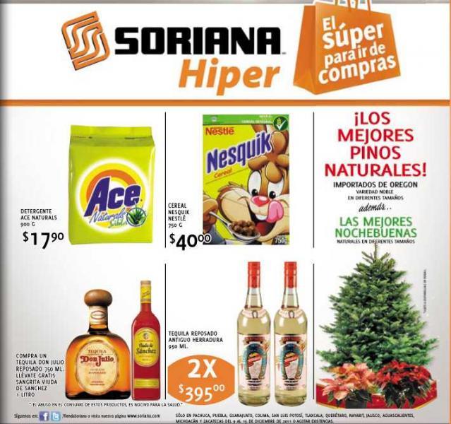 Folleto Soriana Hiper: 3x2 en shampoo Pantene 25% de descuento en cremas y más