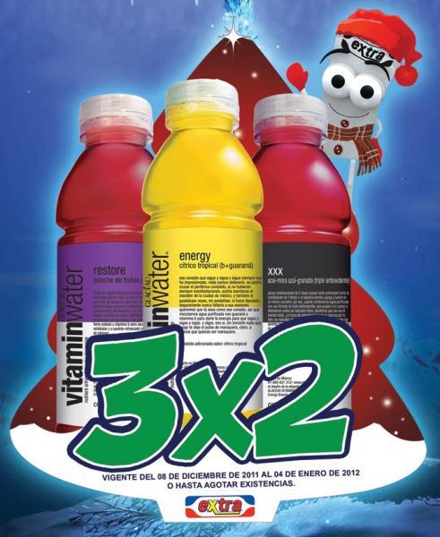Tiendas Extra: 3x2 en Vitamin Water, 4x3 en New Mix, Boones 2x$79 y más