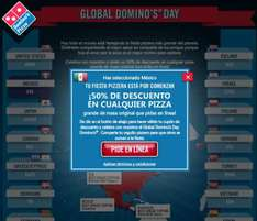 Global Domino's Day: pizza grande en Dominos Pizza a $50 sólo hoy