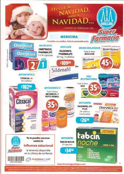 Folleto Farmacias Guadalajara: 3x2 en Ades, Shampoo Sedal, 40% de descuento en Pampers y más