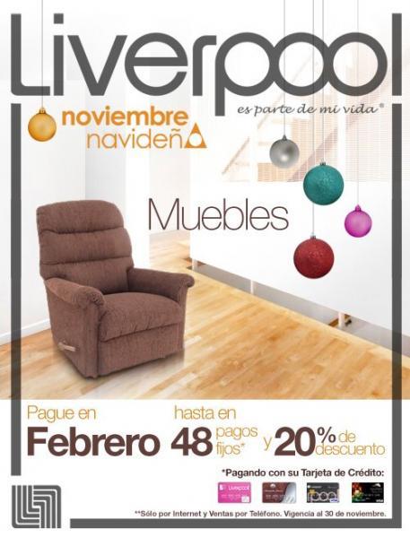 Liverpool: 20% de descuento en muebles por internet y teléfono