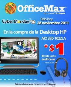 OfficeMax Cyber Monday: $1 iPod Shuffle al comprar iMac, Macbook Pro o Air, 10% en cámaras Fuji y más