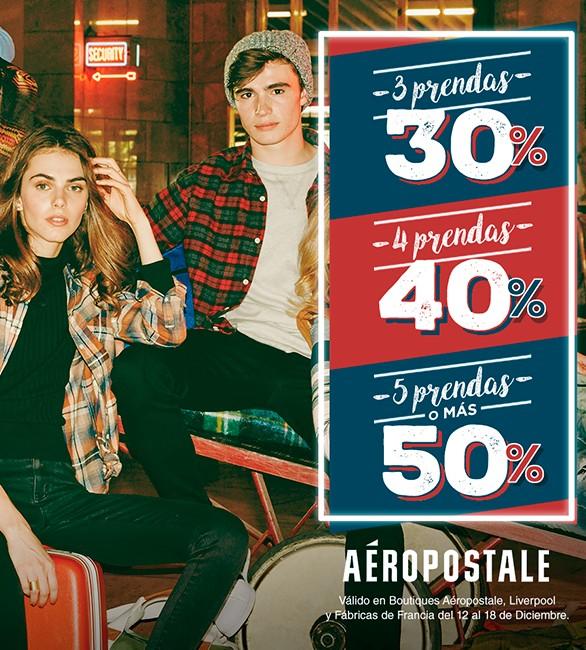 AEROPOSTALE: Entre más compras; más descuento recibes.