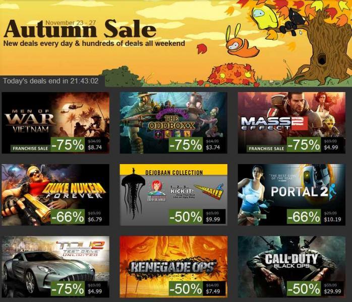 Ofeas de Black Friday en Steam (juegos de PC). Hasta 75% de descuento