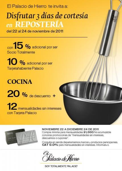 Palacio de Hierro: 25% de descuento en cocina y 15% extra con Tarjeta Palacio