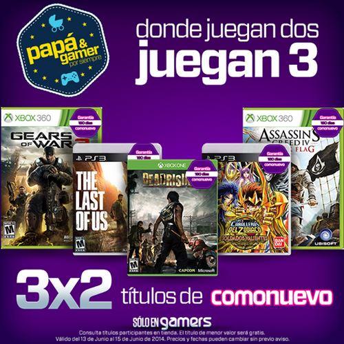 Gamers: 3x2 en juegos seminuevos