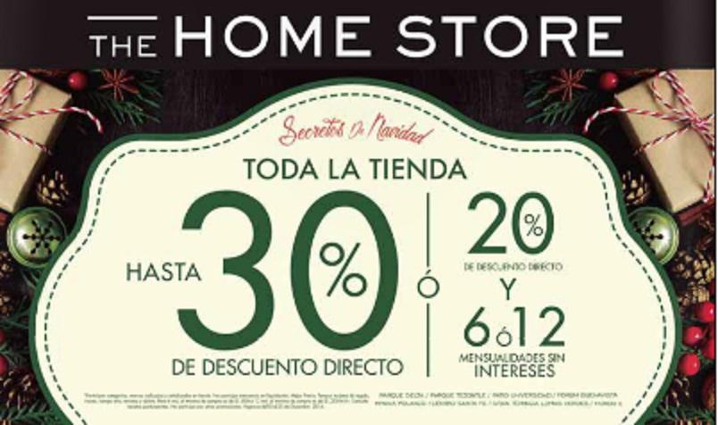 The Home Store: Secretos de Navidad: Toda la tienda hasta 30% desc. directo ó 20% desc. directo y 6 o 12 MSI