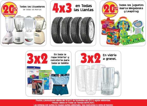 Ofertas del Buen Fin Mercado Soriana: 4x3 en llantas, 40% en colchones y más
