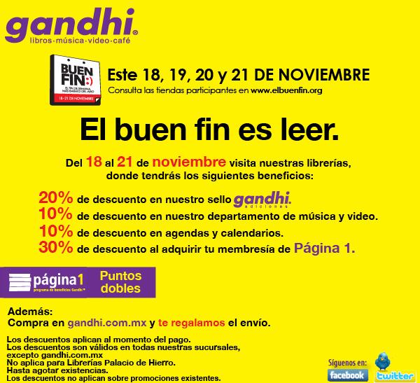 Ofertas en Gandhi del Buen Fin: descuentos del 10 al 30% en diversas categorías