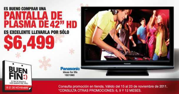 """Ofertas del Buen Fin en RadioShack: pantalla de plasma Panasonic 42"""" $6,500 y más"""