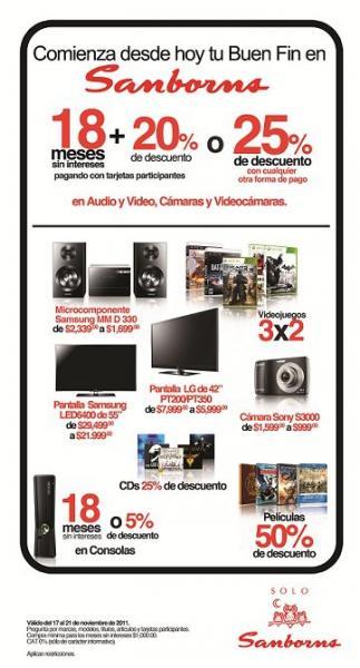 Ofertas del Buen Fin en Sanborns: 3x2 en videojuegos y descuentos en tecnología y entretenimiento