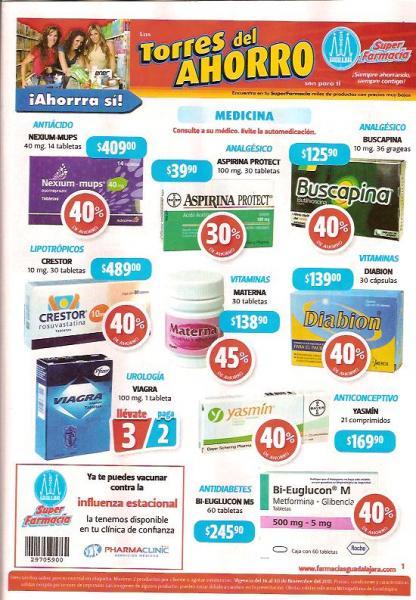 Folleto Farmacias Guadalajara: 2x1 en Pampers Swaddlers, 3x2 en Viagra y más