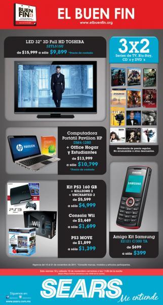 Ofertas del Buen Fin en Sears: Nintendo Wii $1,699, PlayStation Move $1,399 y más