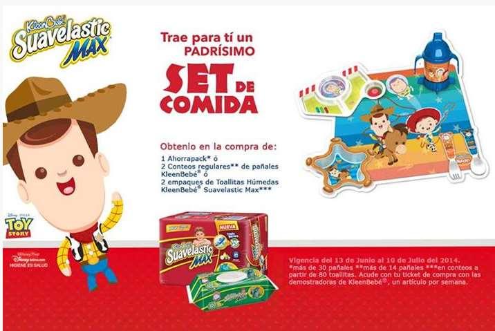 Kleenbebé: set de comida de Toy Story haciendo compra