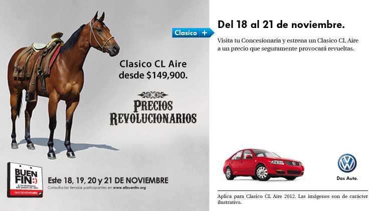 Ofertas Buen Fin Volkswagen: Gol $119,900, Clásico con aire $149,900