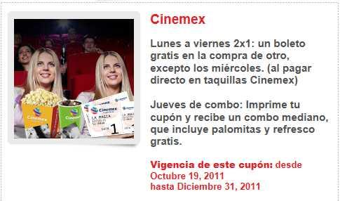 Cinemex: 2x1 pagando y combo gratis con Santander con cupón