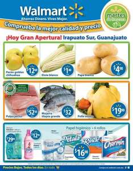 Martes de frescura Walmart noviembre 15: elote $1.40, papa $4.90 y más