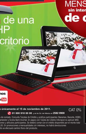 """Office Depot: pantalla LCD LG de 22"""" gratis comprando computadora HP y 18 MSI en toda la tienda hoy"""