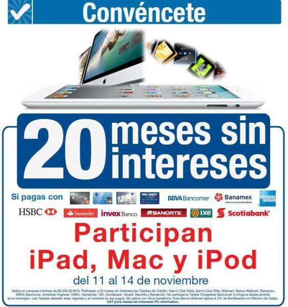 Ofertas 20 aniversario Sam's Club: 20 MSI incluyendo Mac, iPod y iPad y precios especiales