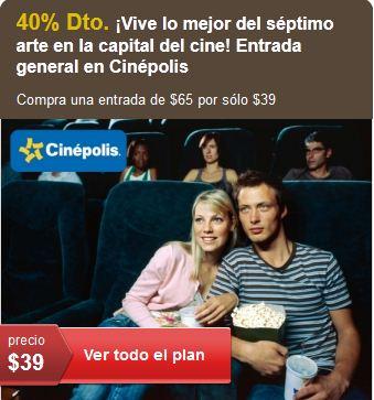 Let's Bonus: Boletos para Cinépolis a $39
