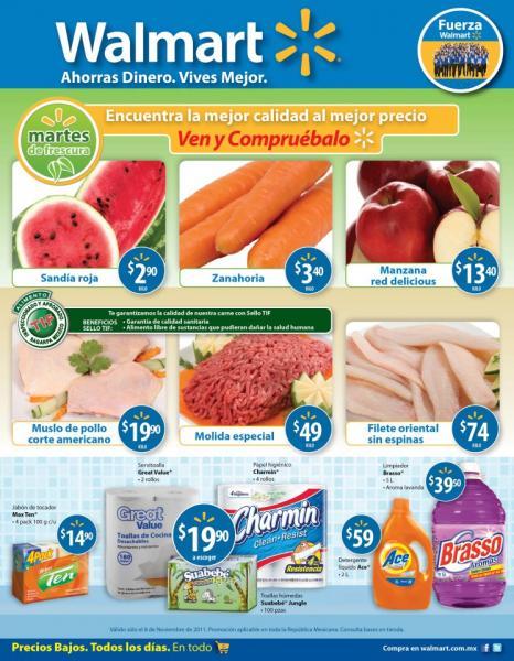 Martes de frescura Walmart noviembre 8: sandía $2.90, muslo de pollo $19.90 y más